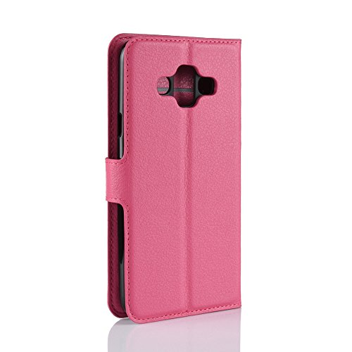 Funda   Capirotazo Billetera Samsung Galaxy J7 DUO  Rosa Roja