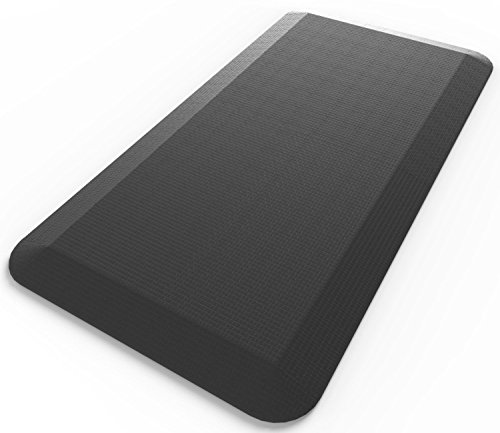 20\ x 32\ x 3/4\ , Jet Black : Royal Anti-Fatigue Comfort Mat - 20' x 32' x 3/4' Thick Cushioned - Multi Surface All-Purpose Luxurious Comfort - For Kitchen, Bathroom or Workstations - (20' x 32', Jet Black)