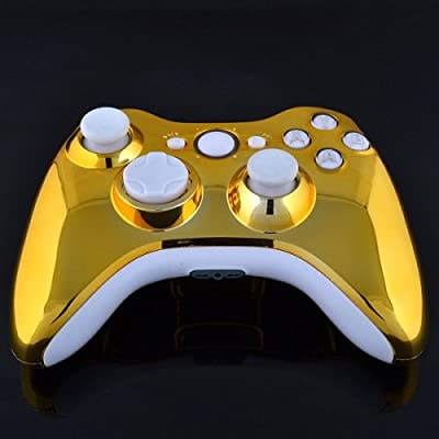 Xbox 360 Wireless Controller - Chrome Gold with White Buttons