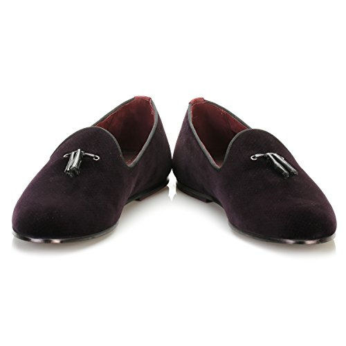 Ted Baker Uomo Dark Rosso Thrysa 3 Evening Slippers Dark Rosso