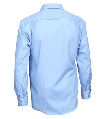CASA MODA - Chemise business - Uni - Col Chemise Classique - Manches Longues - Homme Blau (16)