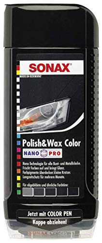 500ml SONAX POLISH & WAX COLOR NANOPRO SCHWARZ AUTO - POLITUR LACK 296100