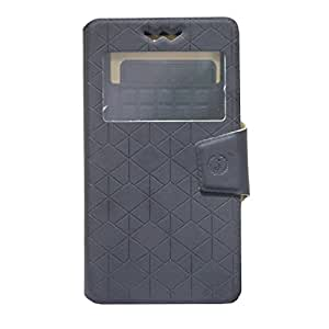 Jo Jo Cover Toto Series Leather Pouch Flip Case With Silicon Holder For Lenovo Vibe X Black
