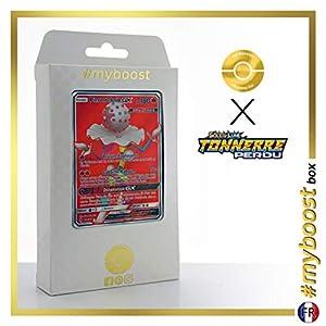Pierroteknik-GX (Blacephalon-GX) 199/214 Full Art - #myboost X Soleil & Lune 8 Tonnerre Perdu - Box de 10 Cartas Pokémon Francés