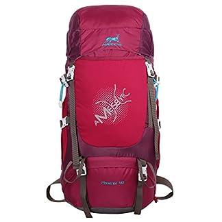 Eshow 40L Mochila de Senderismo Impermeable de Trekking Escalada Macuto de Montaña con Cubierta de Lluvia para Viaje Camping Deporte al Aire Libre