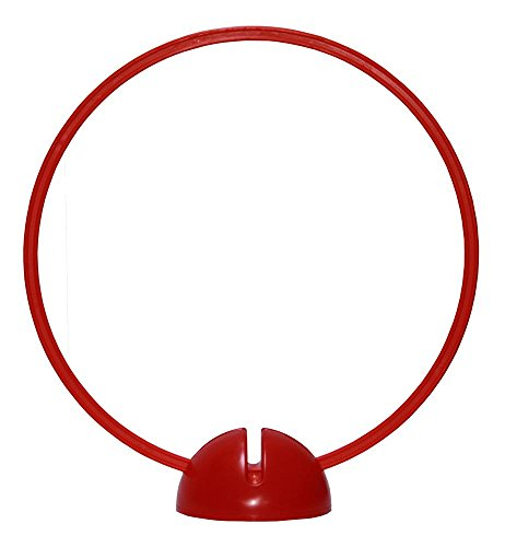 Agility Hundesport - X-Standfuß, rot und Ring / Reifen Ø 70 cm, rot