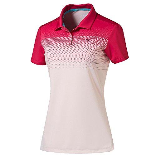 Puma Golf Damen Colorblock verblasst PC Polo, Damen, Rose Red/Pink Dogwood, X-Small - Colorblock Golf