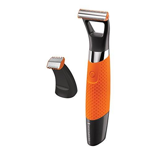 Remington MB070 Bartschneider Durablade Pro, Rasieren (0,2 mm) inkl. Detailtrimmeraufsatz, Nass- und Trockenanwendungen, schwarz/orange