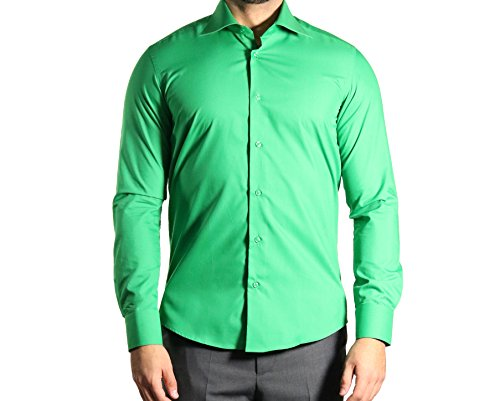 Muga chemise manches longues, ajustée, Vert foncé Vert foncé