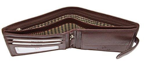 Starhide 5001 Herren-Portemonnaie, weiches italienisches Leder, Geschenkbox Braun