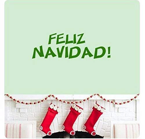 Dalxsh Lied Weihnachten Spanisch Wir Wünschen Ihnen Ein Frohe Weihnachten Wandtattoo Aufkleber Kunstwand Zitat Frohe FeiertageWohnkultur 58X18 Cm