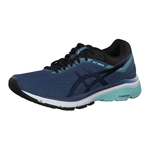 ASICS Damen GT-1000 7 Laufschuhe, Blau (Grand Shark/Black 401), 41.5 EU