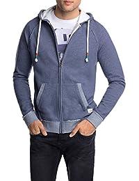 Edc By Esprit - Sweat-shirt - Coupe cintrée - À capuche - Manches longues - Homme