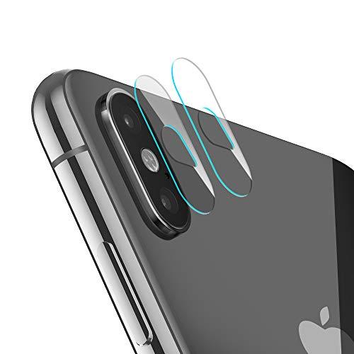 EasyAcc 2 Pezzi Pellicola Protettiva Fotocamera per iPhone X/XS/XS Max Pellicola Vetro Temperato Fotocamera Trasparente Antigraffio Pellicola 9H