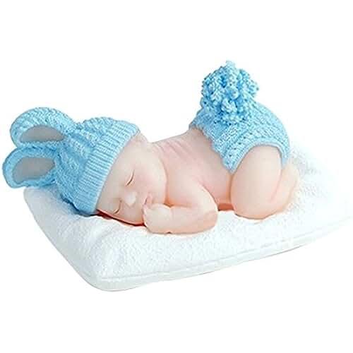 figuras kawaii porcelana fria LYNCH Bebé durmiendo Molde para el chocolate Molde para el jabon Rosa