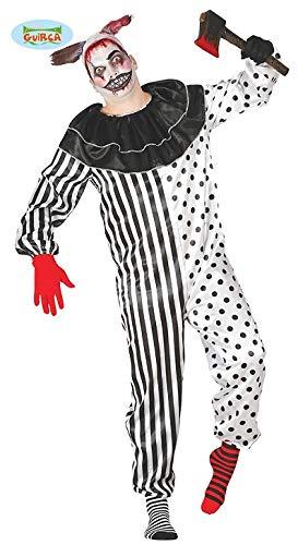 Für Pierrot Kostüm Herren - Pierrot Halloween Kostüm für Herren Clown Halloweenkostüm Clownkostüm Joker M/L, Größe:M