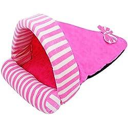 EOZY Perro Saco de Dormir Casa Cama de Invierno para Mascota Gato Dog Bed Rosa