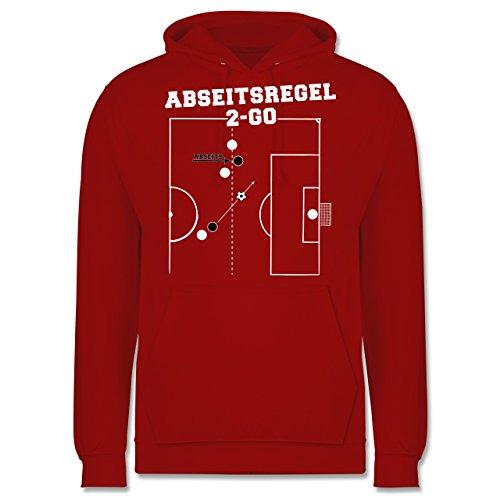 Fußball - Abseitsregel-2-Go - Männer Premium Kapuzenpullover / Hoodie Rot