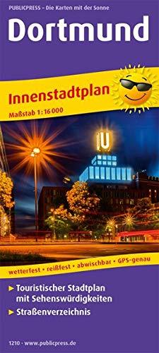 Dortmund: Touristischer Innenstadtplan mit Sehenswürdigkeiten und Straßenverzeichnis. 1:16000 (Stadtplan / SP)