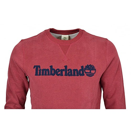 Timberland Exeter Rvr Tbl Crew, Sweat-Shirt Homme Rouge