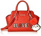 Love Moschino Damen Borsa Pu Handgelenkstasche, Rot (Rosso), 12x21x34 cm