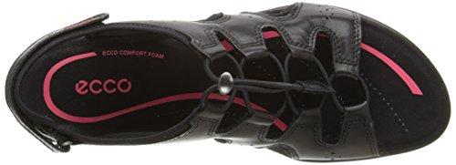 ECCO Bluma Sandal, Scarpe Col Tacco con Cinturino a T Donna Nero(Black 1001)