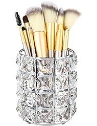 1 STÜCKE Kristall Halter für Make-up Pinsel, Make-up Veranstalter, Kristall Make-Up Pinsel Stift Stifthalter für Home Office Deco 9 * 9 * 10 cm