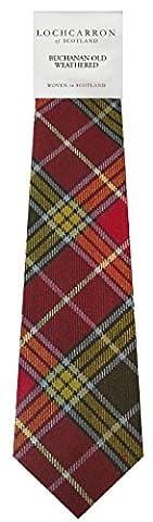 Buchanan Old Tartan (Weathered) Soft Pure Wool, Mens Tie