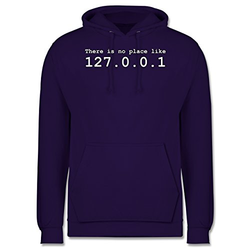 Programmierer - There is no place like 127.0.0.1 - Männer Premium Kapuzenpullover / Hoodie Lila
