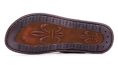 SHIXR Hommes Open Back Pantoufles Été Nouveaux caractères Dragged antidérapant Tendance Loisirs Cool chaussons Sandales multifonctions Blue