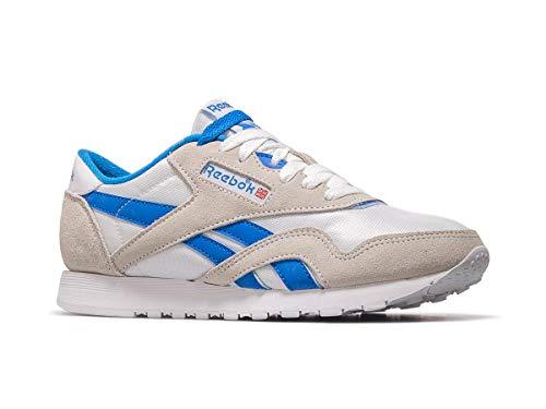 Reebok Cl Nylon, Zapatillas de Deporte para Mujer, (Archive/White / Cycle Blue 000), 37 EU
