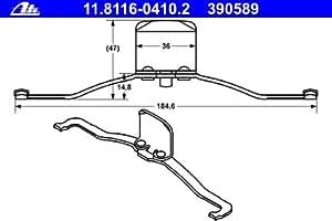 ATE 11.8116-0410.2 Ressort, étrier de frein