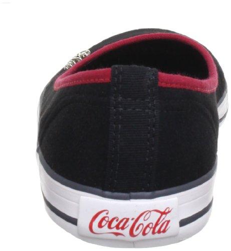 Coca Cola Ballerina Basic CC0243, Ballerine donna Nero (Schwarz (Black))