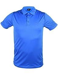 Golf polo para hombres AZUL - TIRAS (XXL)