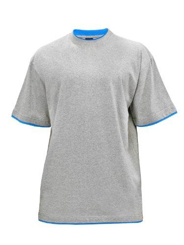 Urban Classics Herren T-shirt Bekleidung Contrast , Grey/Turquoise