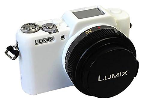 Protecteur Silicone Gel Caoutchouc souple Housse Housse Housse Compatible Pour Panasonic LUMIX G DMC-GF7K GF7 Caméra Blanc