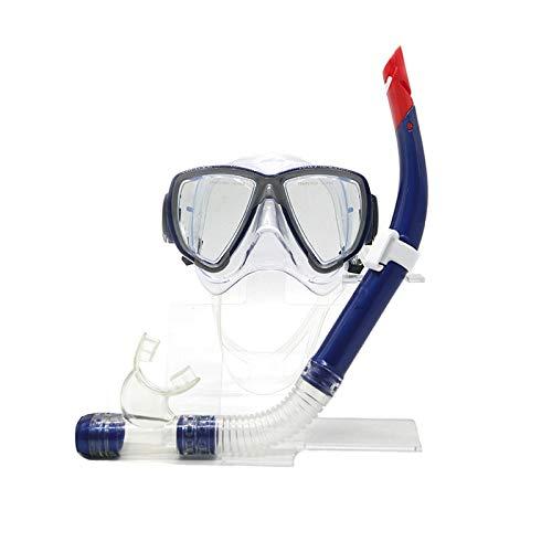 ZXGA Schutzbrillen Die Trockenen Schnorchel Schwimmen Erwachsene Schwimmen Maske Großen Rahmen HD Anti-Fog Und Wasserdicht,Blue (Ozean Schwimmen-schutzbrillen)