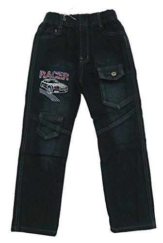 Bequeme Jungen Jeans mit rundum Gummizug, in schwarz, Gr. 92/98, J24.2e