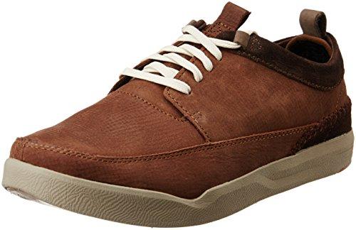Hush Puppies Men's Lock Genius Brown Leather Sneakers - 9 UK/India (43 EU)(8244159)
