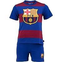 pyjashort Maglietta + Pantaloncini FC Barcelona–Collezione ufficiale FC Barcellona–Taglia Bambino, Ragazzo, blu, 12 anni