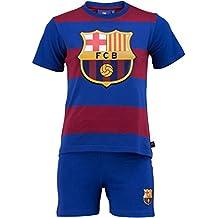 FC Barcelona - Juego oficial de camiseta y pantalones cortos para niño, diseño del FC Barcelona, Niño, azul, 6 años