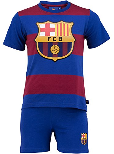 Kinder-Pyjama, FC Barcelona, offizielles Produkt, Kindergröße, Jungen 10 Jahre blau - Fc Barcelona Messi Mütze Offizielle