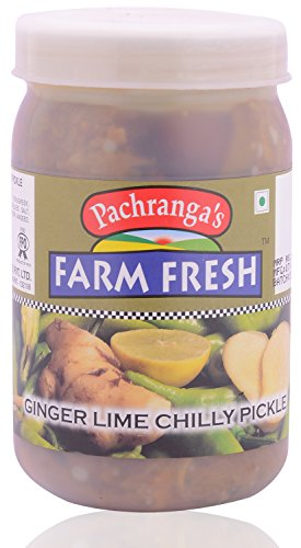 Pachranga Farm Fresh Ginger Lime Chilly Pickle - 400 Gram