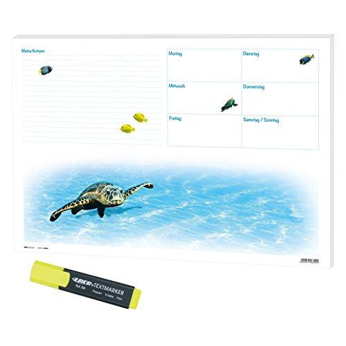 Schreibunterlage Schreibtischunterlage Unten im Meer 60 x 42 cm inkl. 1 Textmarker gelb, 30 Blatt...