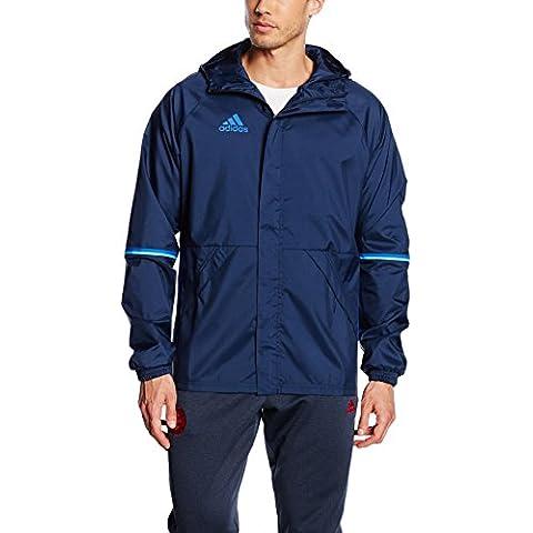 adidas–Chaqueta de lluvia Tribe Sponge de balonmano, primavera/verano, hombre, color Azul - Collegiate Navy/Blue, tamaño