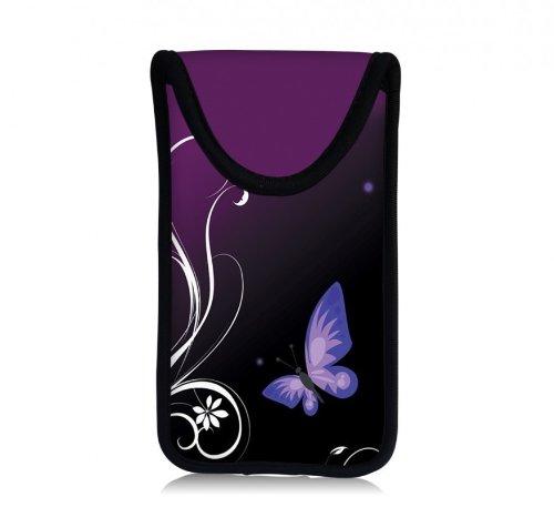 MySleeveDesign Smartphone Hülle Handy Tasche (u.a. passend für Samsung Galaxy S4 & S5 mini , HTC one , Sony Xperia Z1 Compact & Z3 Compact uvm.) - VERSCH. DESIGNS - Butterfly Light