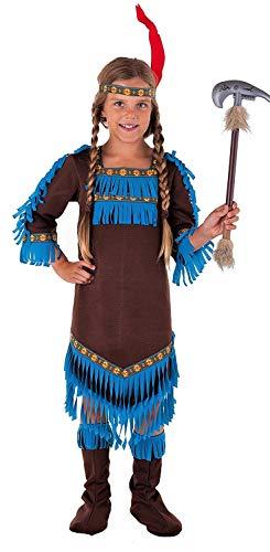 Magicoo Königin Indianer Kostüm Kinder Mädchen Größen 110 bis 152 - Faschingskostüm Indianerin Kostüm (140/152) (Bis Kostüm Kind)