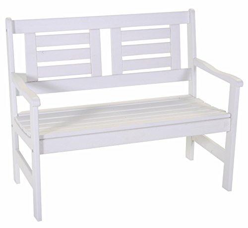 Gartenbank Boulogne 2-Sitzer weiß