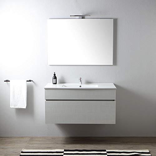 mobile bagno sospeso 100 cm con cassettone promenade | serie sole