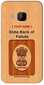 """Aakrti Mobile Back cover with your Dept: State Bank of Patiala.Your ID with Government Logo With """" Your Name """" Printed on your Smart Phone : Samsung Galaxy J-3 ( 2016 )"""